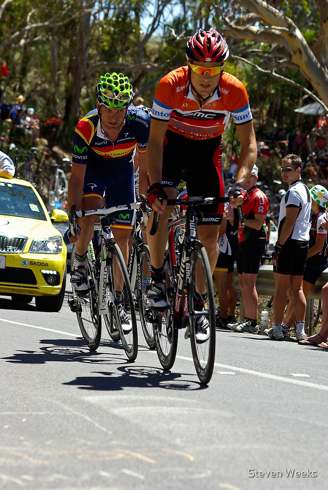 Stage 5, Old Willunga Hill, Tour Down Under 2012 by Steven Weeks