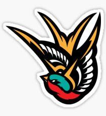 Swallow Tattoo Flash Logo Sticker