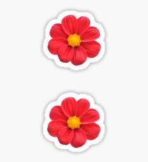 Red flowers Sticker