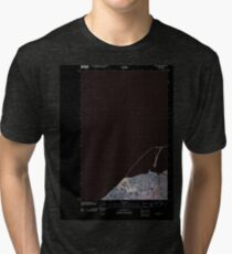 USGS Topo Map Washington State WA Dungeness 20110419 TM Inverted Tri-blend T-Shirt