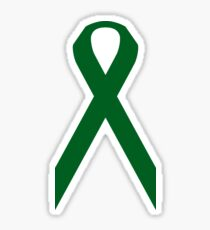 Liver Cancer Awareness ribbon Sticker