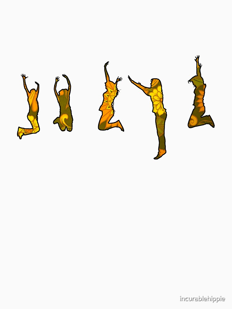 Jumping Floral Silhouettes by incurablehippie