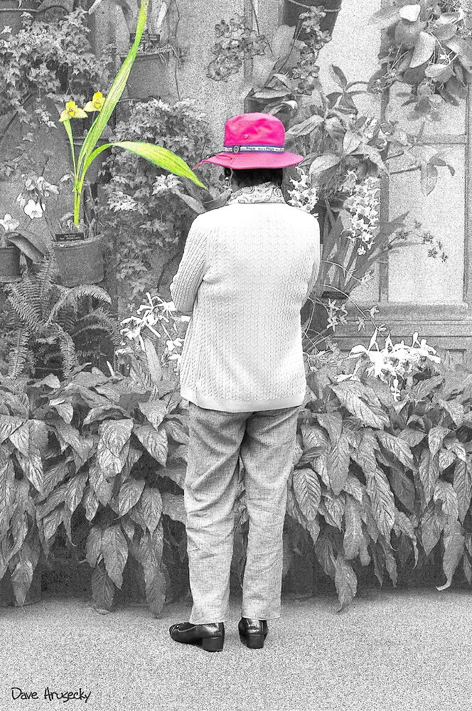 The hat and the orchid..... selective coloring by DaveHrusecky