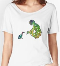 Starry Duck Silhouette Women's Relaxed Fit T-Shirt