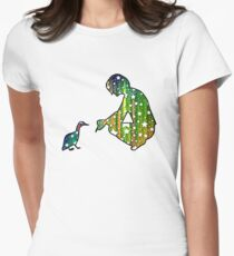 Starry Duck Silhouette Women's Fitted T-Shirt