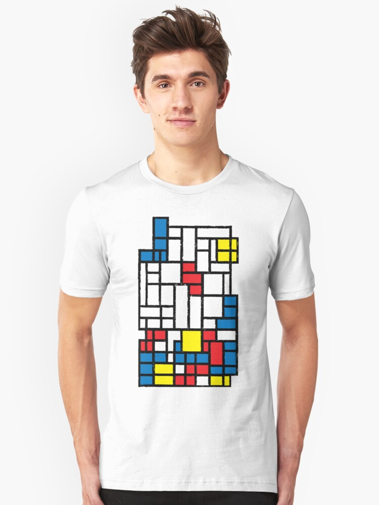 COMPOSITION WITH FALLING BLOCKS Unisex T-Shirt Front