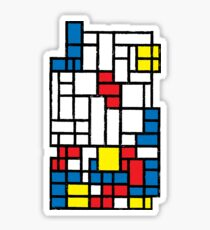 COMPOSITION WITH FALLING BLOCKS Sticker