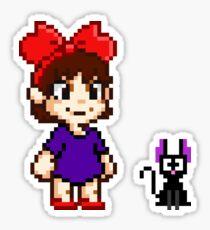 Kiki and Jiji Pixel Art Sticker