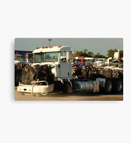Truck 7946 White Canvas Print
