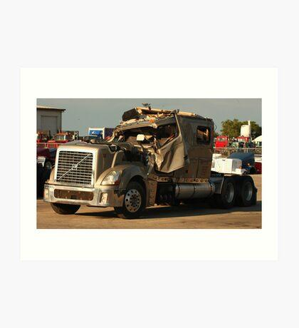 Truck 7949 Green Art Print