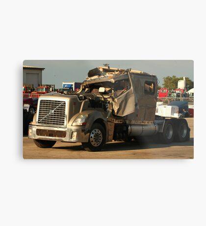 Truck 7949 Green Metal Print