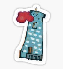Red Cloud, Blue Tower Sticker
