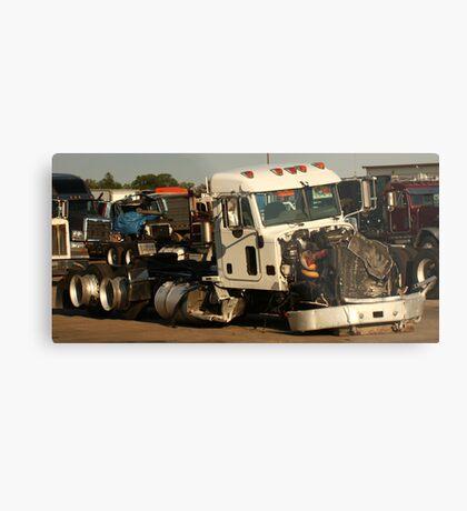 Truck 7952 White Metal Print