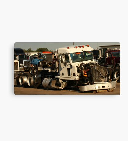 Truck 7952 White Canvas Print