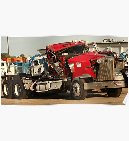 Truck 7953 Red Poster