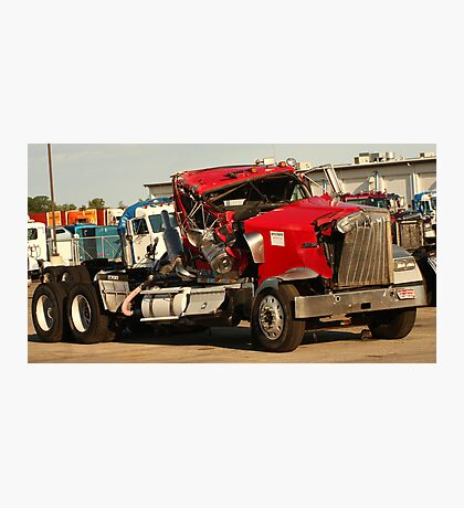 Truck 7953 Red Photographic Print