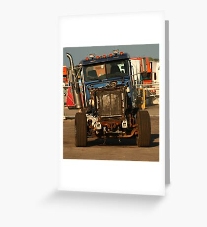 Truck 7957 Blue Greeting Card