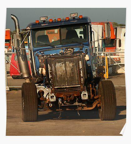 Truck 7957 Blue Poster