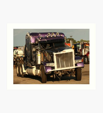 Truck 7950 Purple Art Print