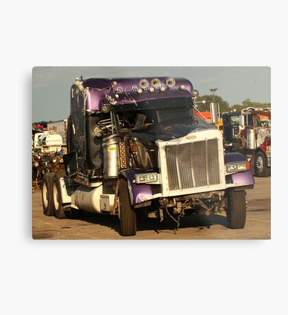 Truck 7950 Purple Metal Print