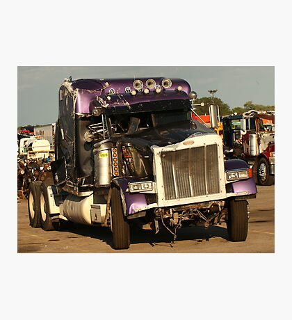 Truck 7950 Purple Photographic Print