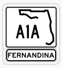 A1A - Fernandina Beach, Florida Sticker