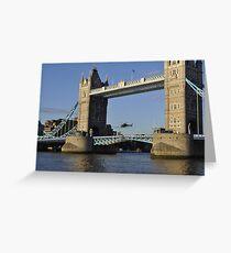 Tower Bridge and Helicoptor II Greeting Card
