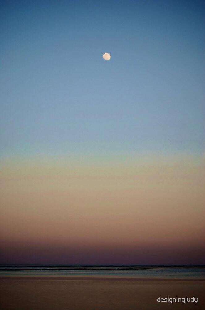 Sunset Moonrise by designingjudy