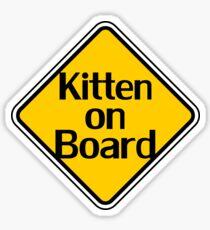 Baby Kitten On Board - Cat Sticker Sticker