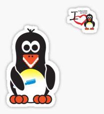 Bathroom Penguin - Teeth Brush Sticker
