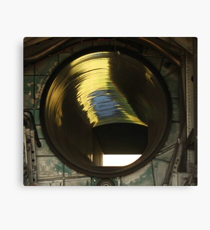 Fighter Jet Engine Air Intake Shaft Canvas Print