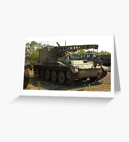 Armored Crane Image 7854 Greeting Card