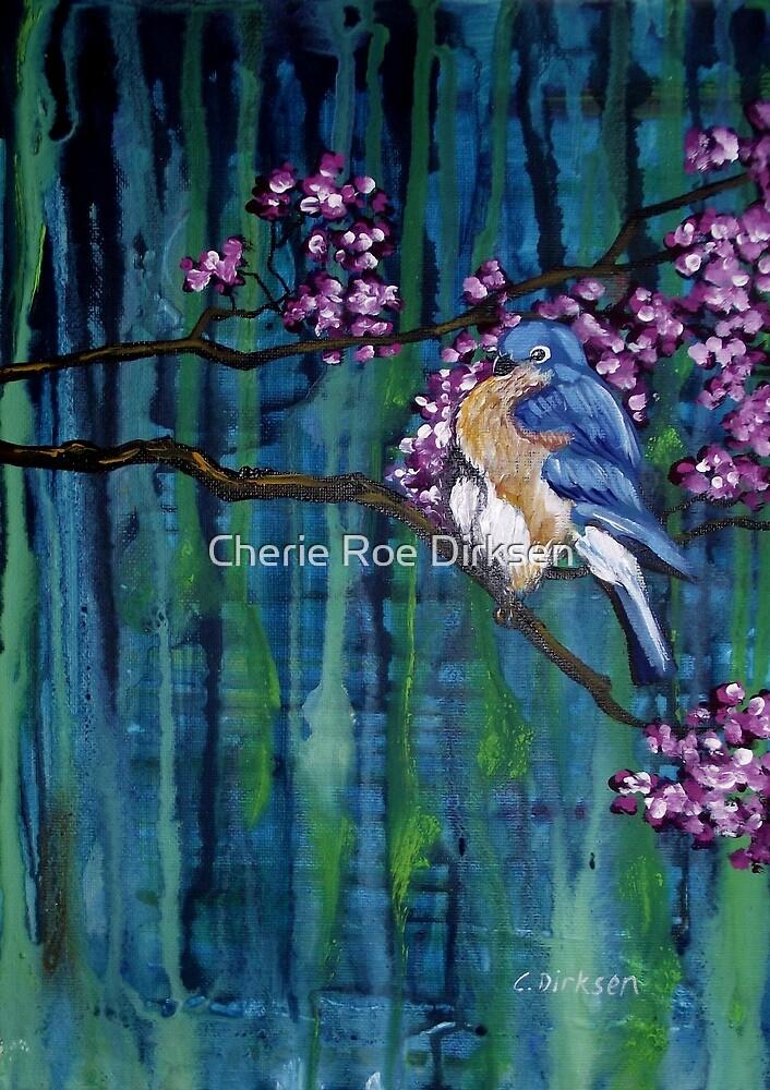 Blossoming Bluebird by Cherie Roe Dirksen