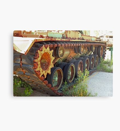 Tank Treads Metal Print