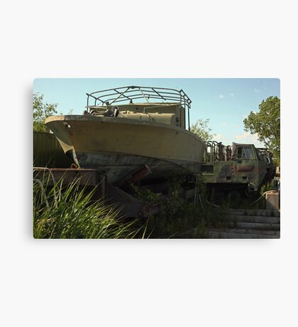 Military Boat 7870 Canvas Print