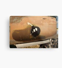 An Image of Luck Painted on Jet Engine Housing Metal Print