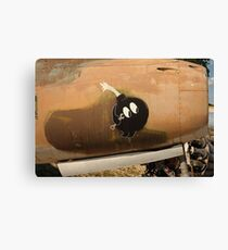 An Image of Luck Painted on Jet Engine Housing Canvas Print