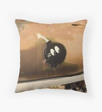 An Image of Luck Painted on Jet Engine Housing Throw Pillow