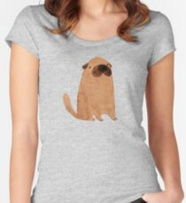 Brown Doggy Women's Fitted Scoop T-Shirt