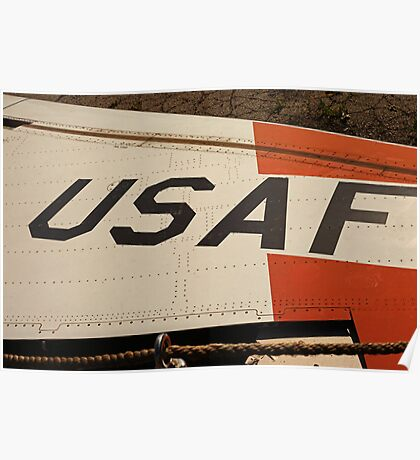 USAF Logo on Wing Poster