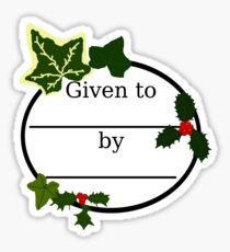 Christmas Gift Bookplate Sticker