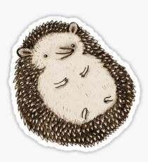 Plump Hedgehog Sticker
