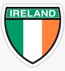 Ireland Flag and Shield Sticker