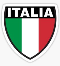 Italy Flag and Shield Sticker
