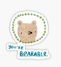 Bearable Bear Sticker