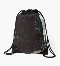 Street near our hotel Firenze Italy 19840707 0001 Drawstring Bag