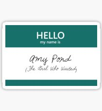 Amy Pond Name Tag Sticker