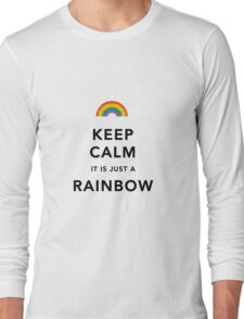 Keep Calm Rainbow on white Long Sleeve T-Shirt