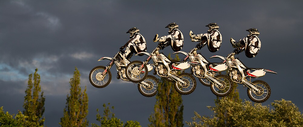 Composite of freestyle motorcross jump by BeardyGit