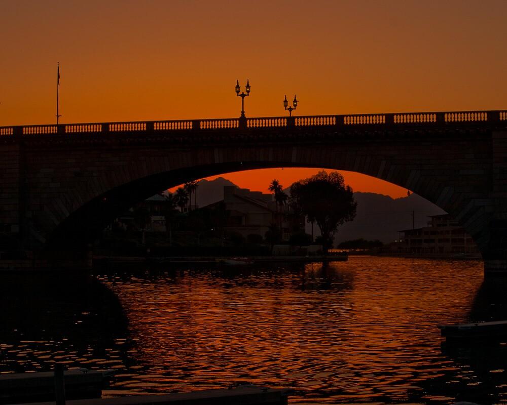 London Bridge Sunset by Michael Risser